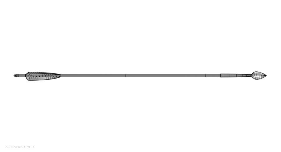 Pil och båge royalty-free 3d model - Preview no. 27