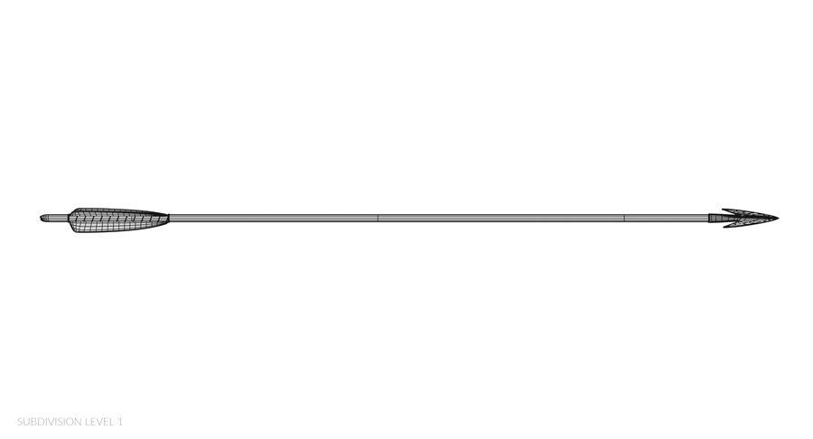 Pil och båge royalty-free 3d model - Preview no. 31