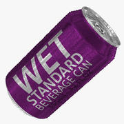 355ml 12oz Wet Standard Beverage Can (2) 3d model