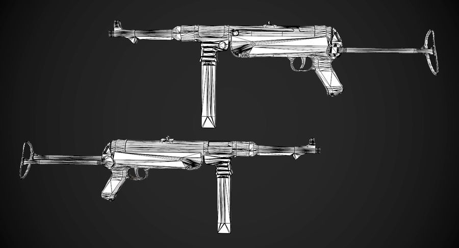 AAA Game Weapons Collection Vol.1 royalty-free modelo 3d - Preview no. 17