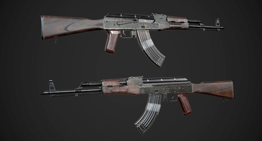 AAA Game Weapons Collection Vol.1 royalty-free modelo 3d - Preview no. 2