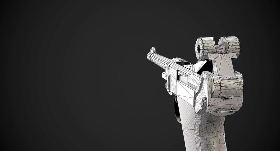 AAA Game Weapons Collection Vol.1 royalty-free modelo 3d - Preview no. 14