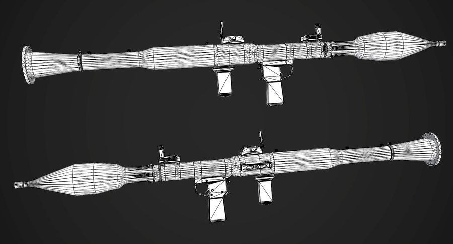 AAA Game Weapons Collection Vol.1 royalty-free modelo 3d - Preview no. 24