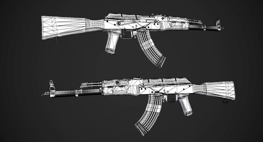 AAA Game Weapons Collection Vol.1 royalty-free modelo 3d - Preview no. 3