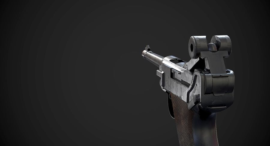 AAA Game Weapons Collection Vol.1 royalty-free modelo 3d - Preview no. 13