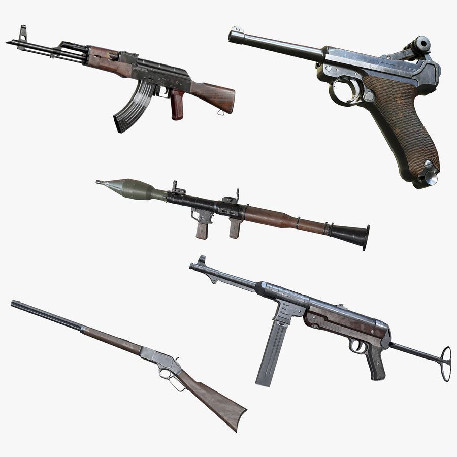 AAA Game Weapons Collection Vol.1 royalty-free modelo 3d - Preview no. 1