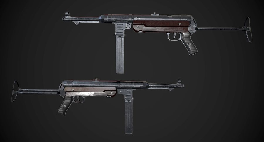 AAA Game Weapons Collection Vol.1 royalty-free modelo 3d - Preview no. 16