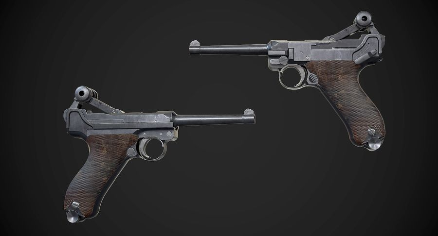 AAA Game Weapons Collection Vol.1 royalty-free modelo 3d - Preview no. 9