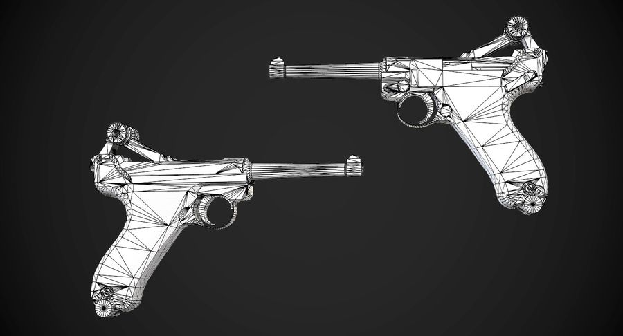 AAA Game Weapons Collection Vol.1 royalty-free modelo 3d - Preview no. 10