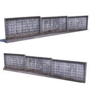 Balayage de clôture en béton 3d model