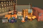 Pakiet rekwizytów gry 3d model