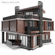 Cottage Dark 3d model