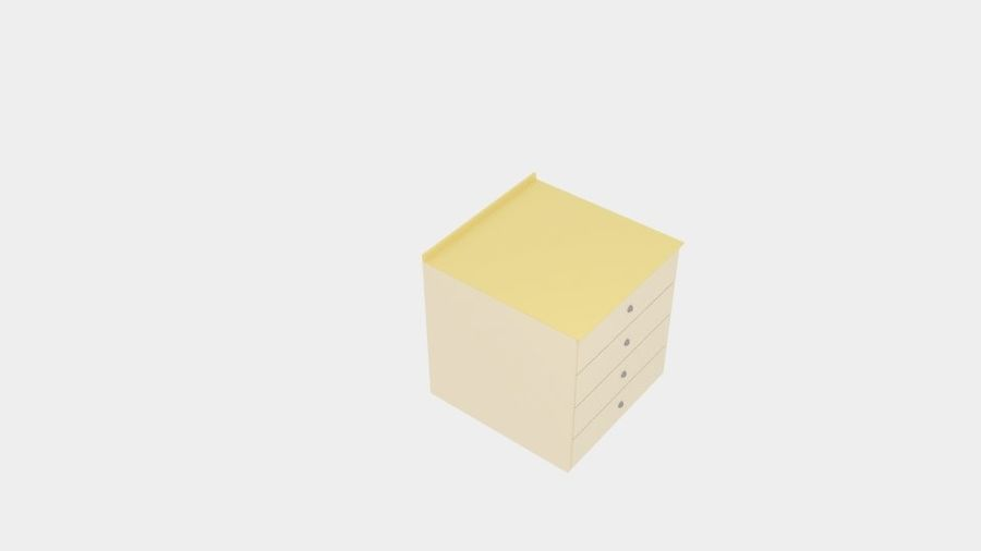 Cabinet Drawer royalty-free 3d model - Preview no. 4