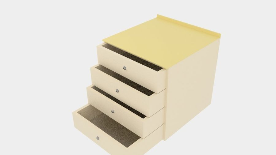 Cabinet Drawer royalty-free 3d model - Preview no. 2