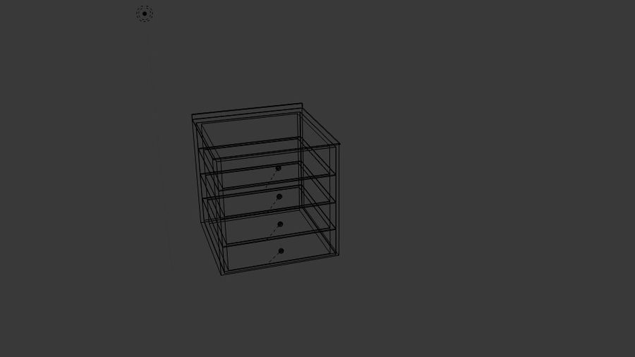 Cabinet Drawer royalty-free 3d model - Preview no. 6