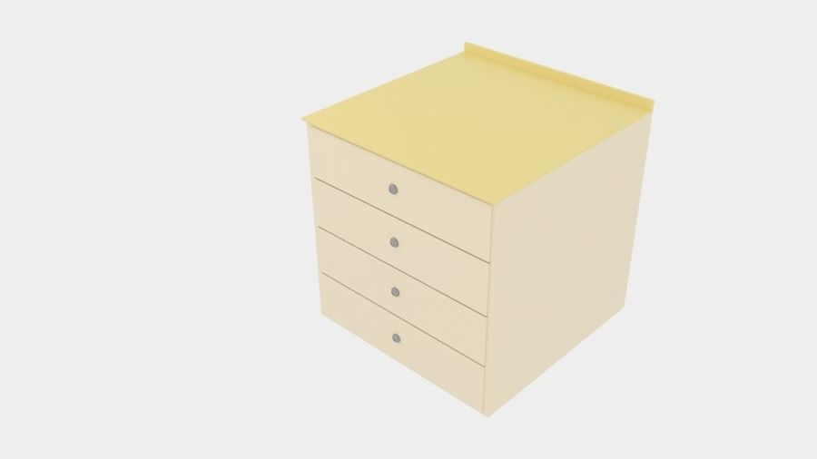 Cabinet Drawer royalty-free 3d model - Preview no. 1