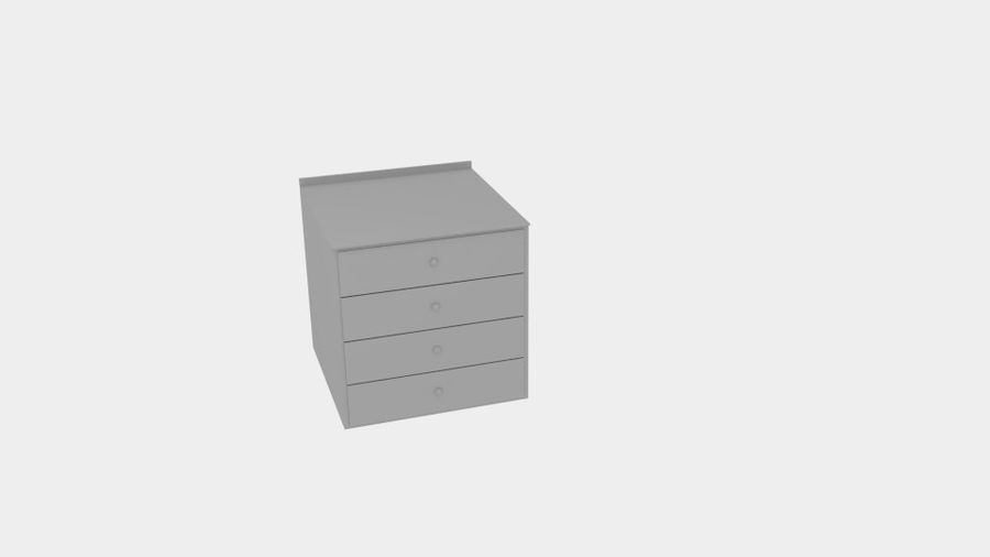 Cabinet Drawer royalty-free 3d model - Preview no. 5