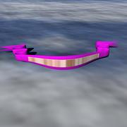 Ribbon Banner 3d model