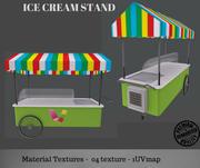 Ice Cream Stand 3d model