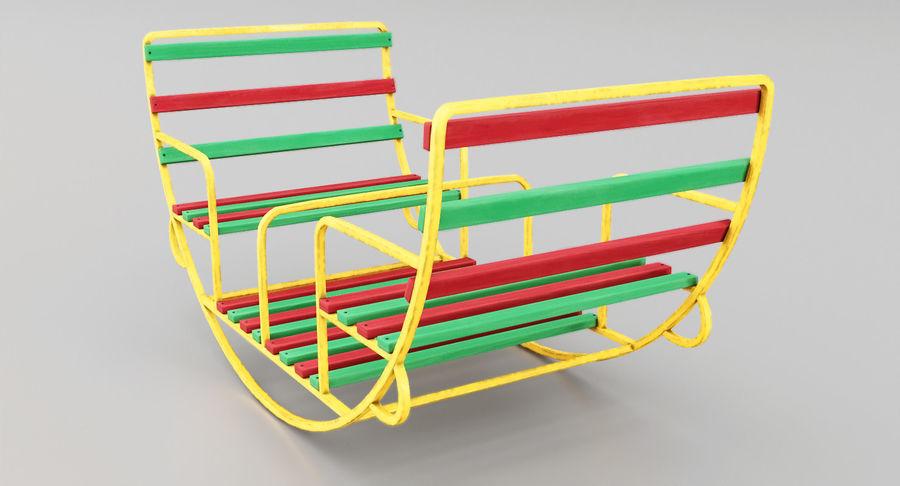 Ronde schommel voor kinderen royalty-free 3d model - Preview no. 3
