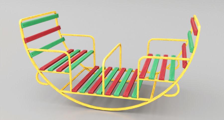 Ronde schommel voor kinderen royalty-free 3d model - Preview no. 2