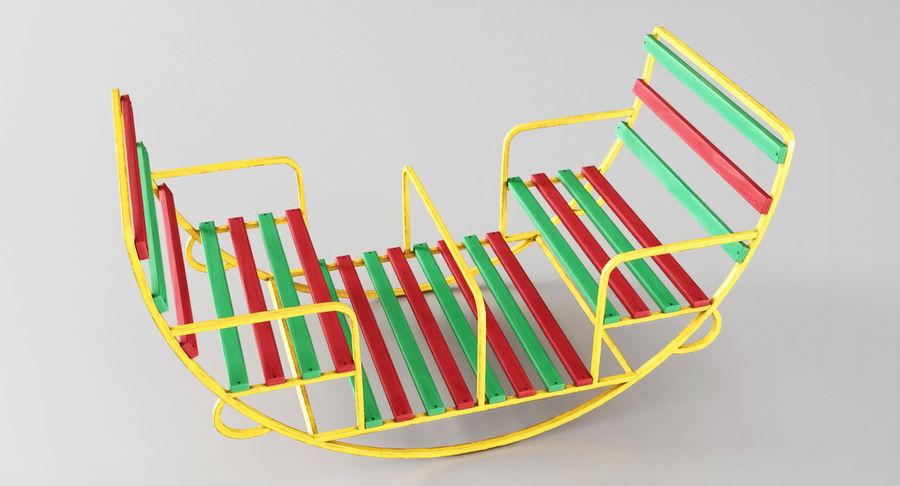Ronde schommel voor kinderen royalty-free 3d model - Preview no. 6