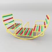 Balançoire pour enfants ronde 3d model