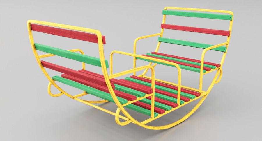 Ronde schommel voor kinderen royalty-free 3d model - Preview no. 4