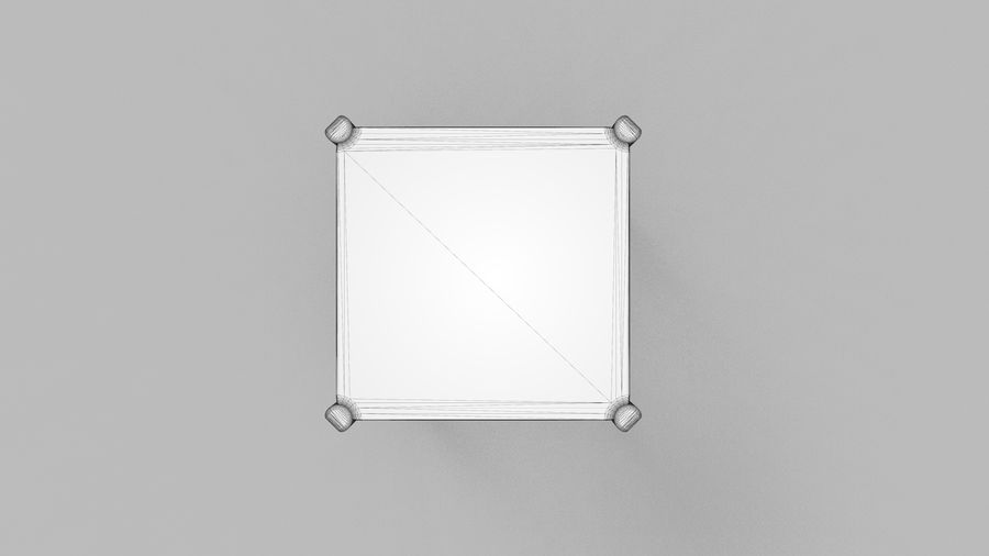 Taburete de bar de diseño escandinavo minimalista royalty-free modelo 3d - Preview no. 13