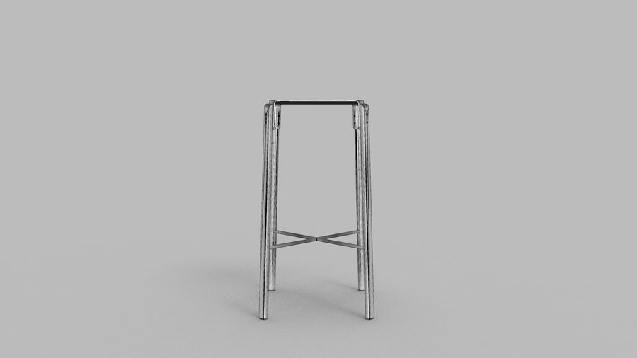 Taburete de bar de diseño escandinavo minimalista royalty-free modelo 3d - Preview no. 11