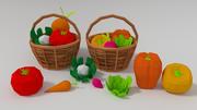 Gemüse mit Gemüsekorb 3d model