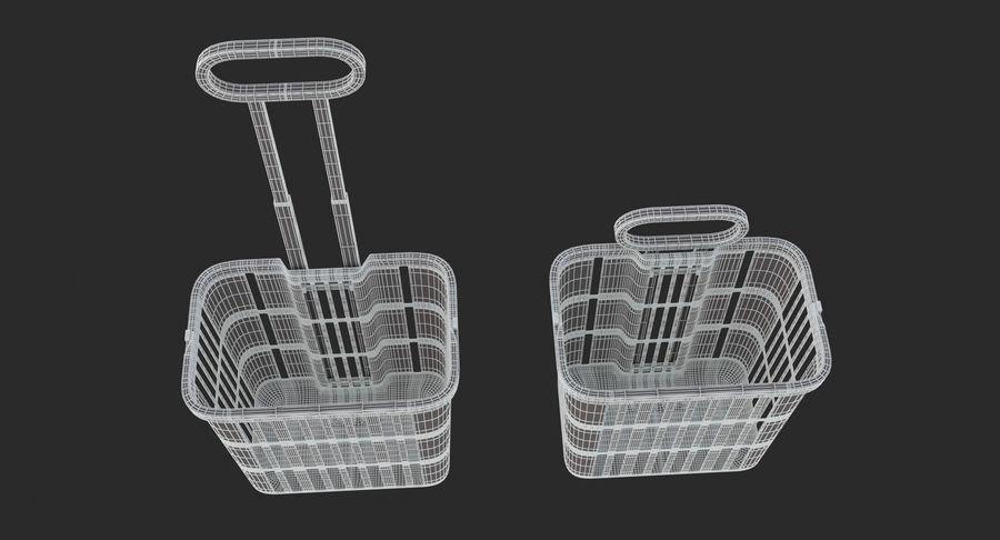Supermercado - carrinho de compras com rodas royalty-free 3d model - Preview no. 10