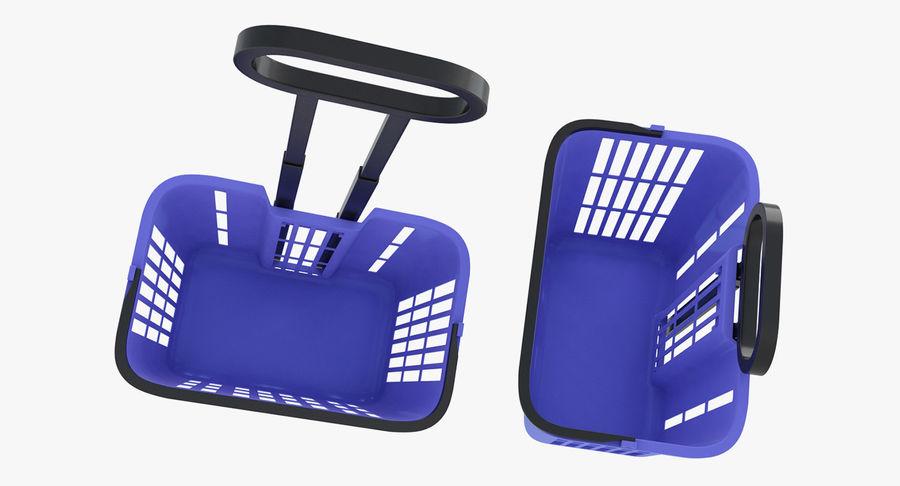 Supermercado - carrinho de compras com rodas royalty-free 3d model - Preview no. 5