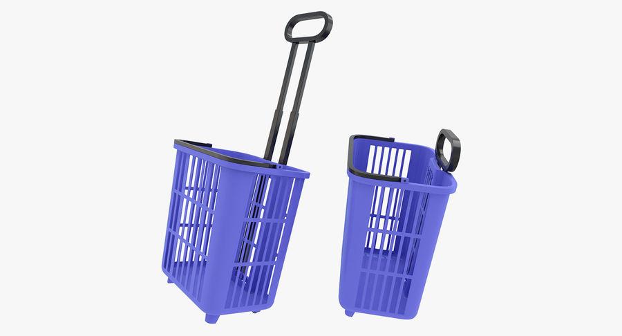 Supermercado - carrinho de compras com rodas royalty-free 3d model - Preview no. 6