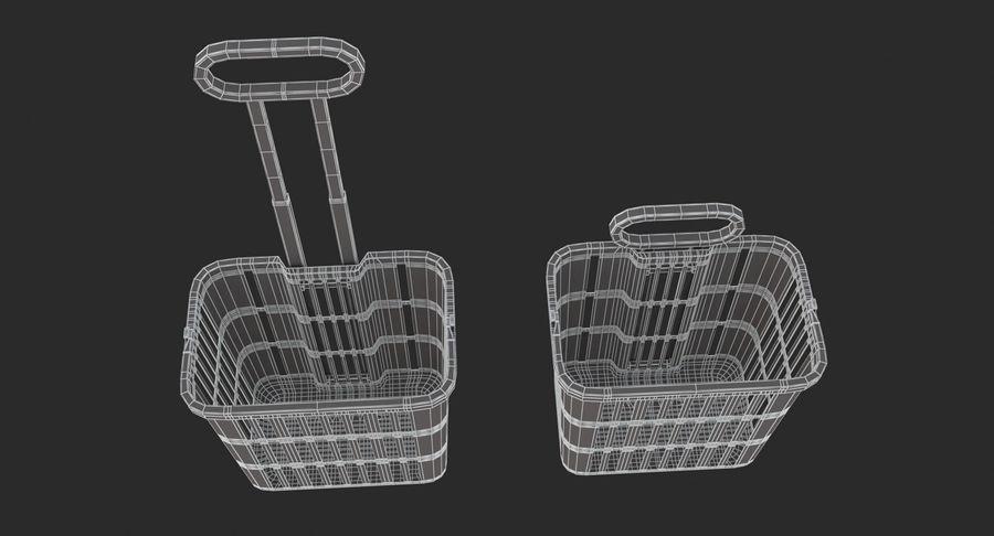 Supermercado - carrinho de compras com rodas royalty-free 3d model - Preview no. 9