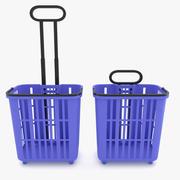 Supermarket - Koszyk Z Kołami 3d model