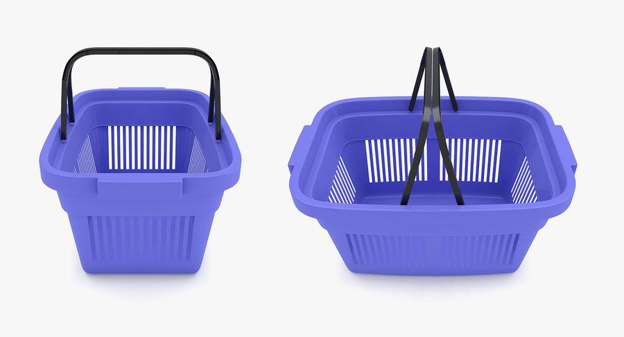 Supermercado - Cesto de compras de plástico royalty-free 3d model - Preview no. 4