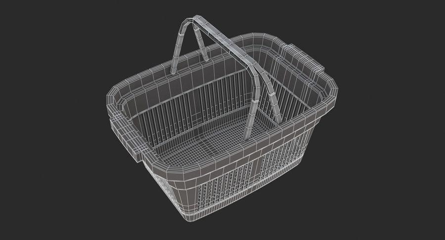 Supermercado - Cesto de compras de plástico royalty-free 3d model - Preview no. 8