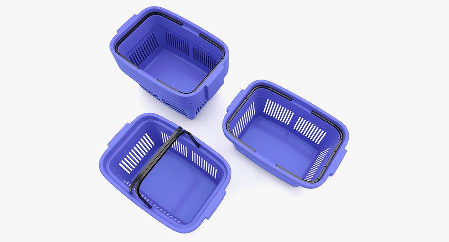 Supermercado - Cesto de compras de plástico royalty-free 3d model - Preview no. 3