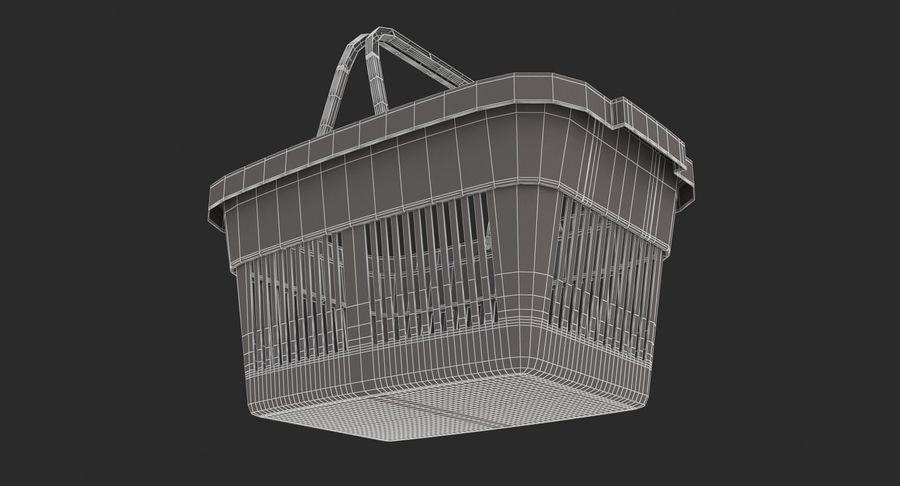 Supermercado - Cesto de compras de plástico royalty-free 3d model - Preview no. 10