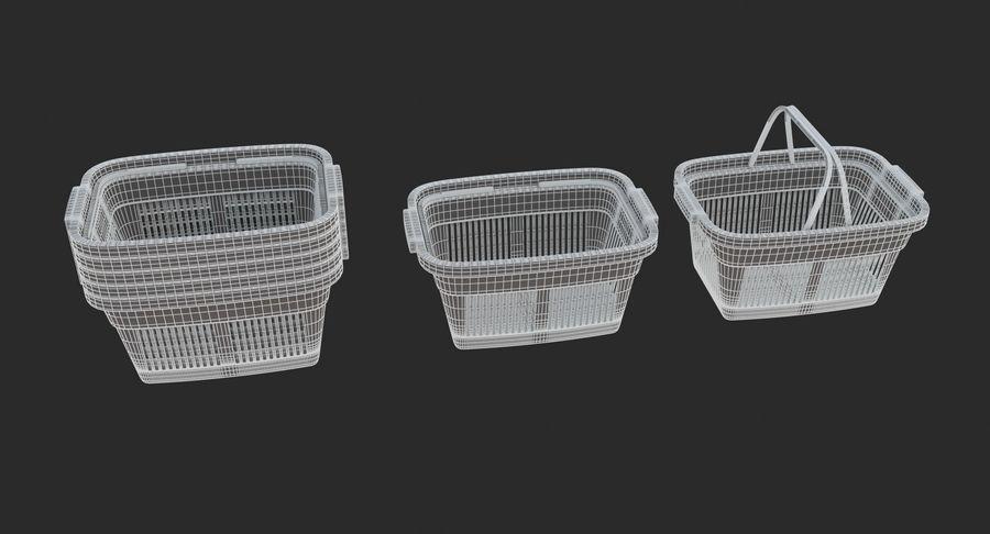 Supermercado - Cesto de compras de plástico royalty-free 3d model - Preview no. 7