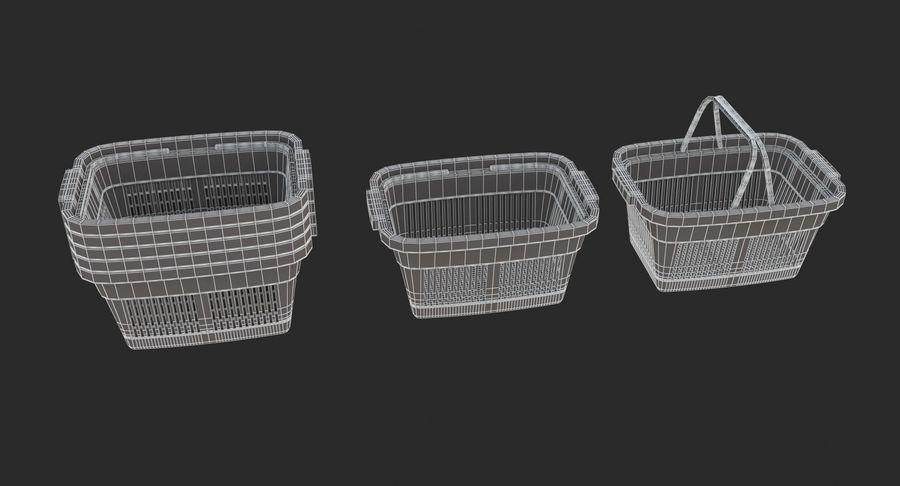 Supermercado - Cesto de compras de plástico royalty-free 3d model - Preview no. 6