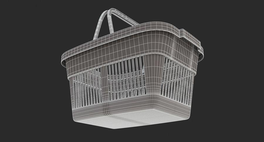 Supermercado - Cesto de compras de plástico royalty-free 3d model - Preview no. 11