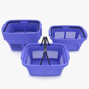Supermarché - Panier à provisions en plastique 3d model