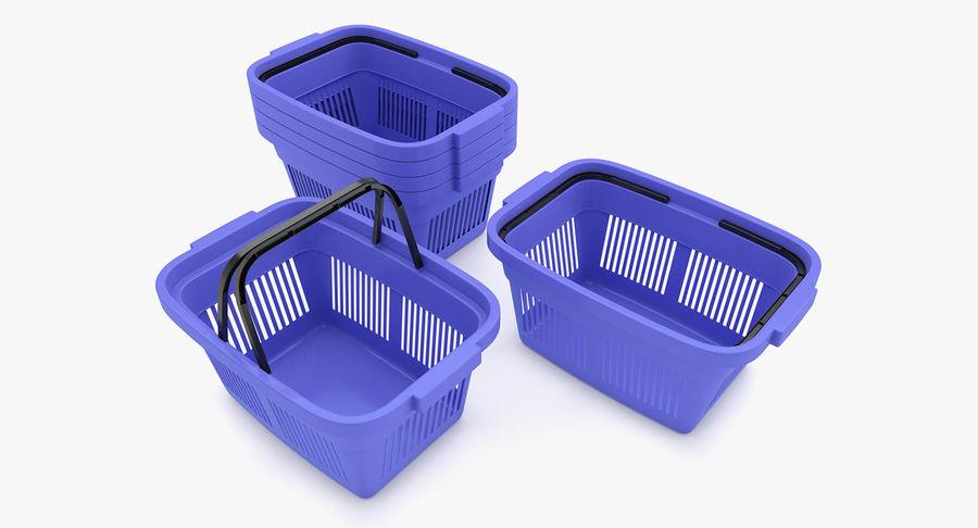 Supermercado - Cesto de compras de plástico royalty-free 3d model - Preview no. 2