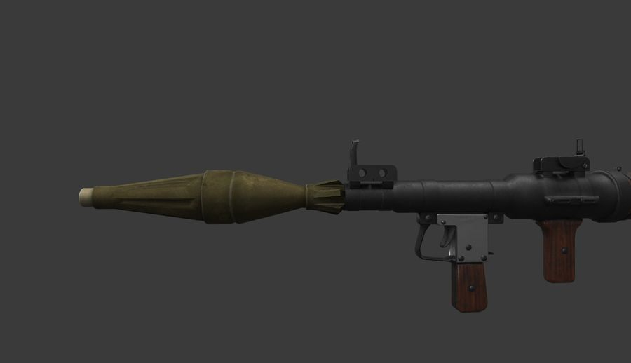 RPG-7 PBR Model gotowy do gry 3D royalty-free 3d model - Preview no. 8