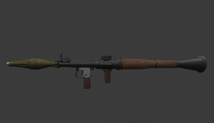 RPG-7 PBR Model gotowy do gry 3D royalty-free 3d model - Preview no. 2