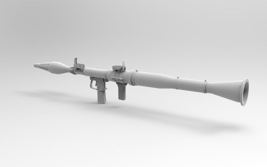 RPG-7 PBR Model gotowy do gry 3D royalty-free 3d model - Preview no. 10