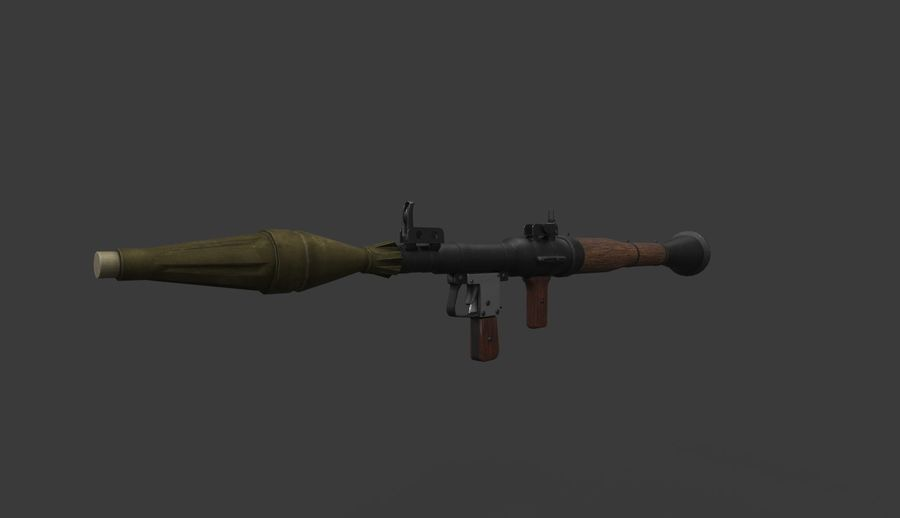 RPG-7 PBR Model gotowy do gry 3D royalty-free 3d model - Preview no. 1