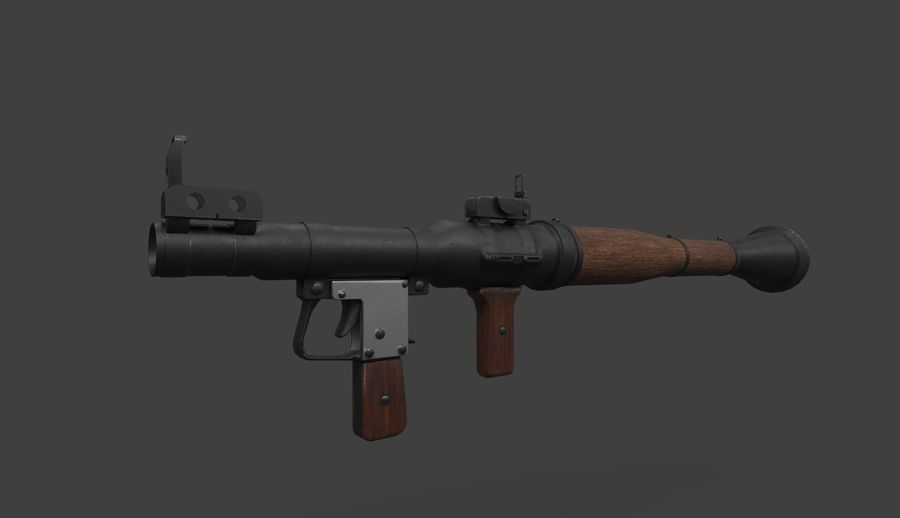 RPG-7 PBR Model gotowy do gry 3D royalty-free 3d model - Preview no. 9